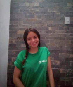 Nuestra becaria Atenea Giménez ya está preparando su proyecto final para LALA 2020